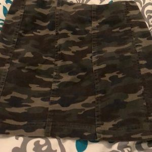 Free people camo skirt